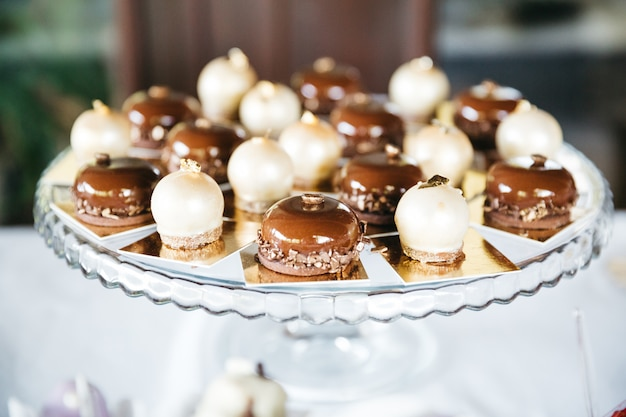 Sweet caramel candy for table decoration