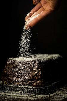 Sweet chocolate cheesecake
