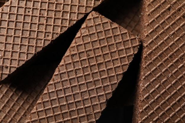 Сладкий шоколад вафли текстуры фона, крупным планом