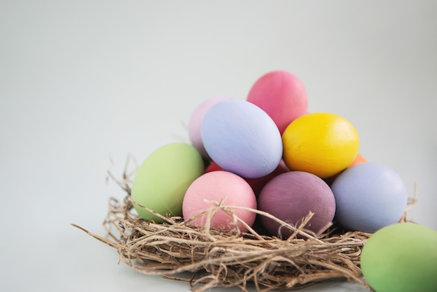 Sweet colorful easter eggs background - national holiday celebration concepts