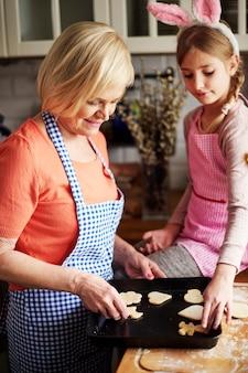 甘いクッキーはまもなく準備が整います
