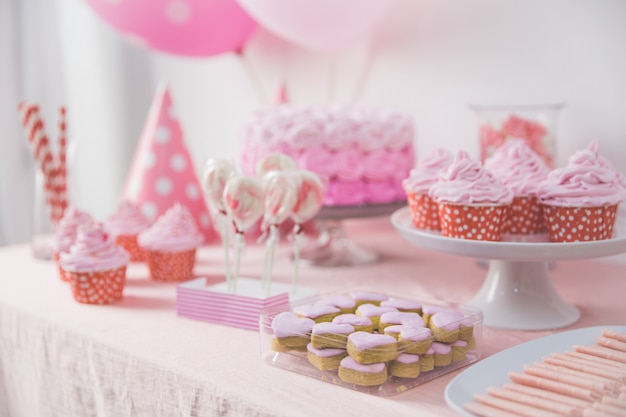 Sweet corner of a birthday party