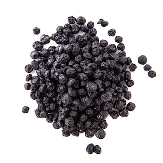 Sweet dehydrated black blueberry