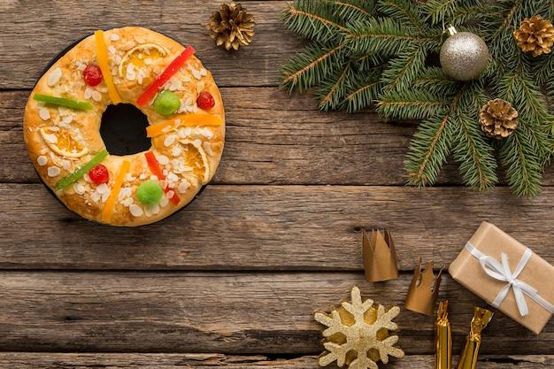 주현절 스페인의 날과 선물의 달콤한 디저트