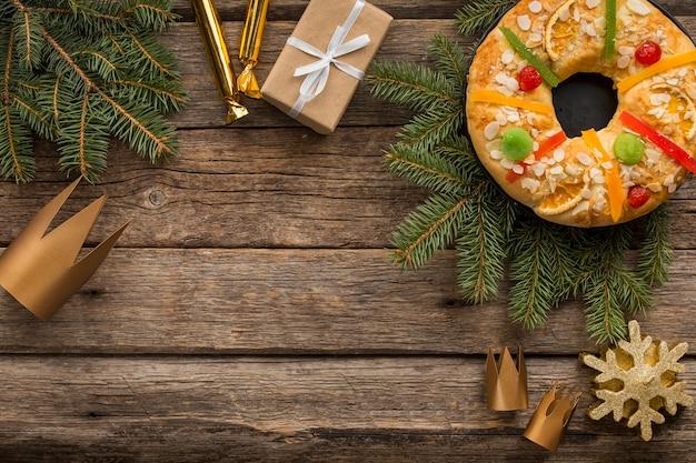 주현절 스페인 날 복사 공간의 달콤한 디저트