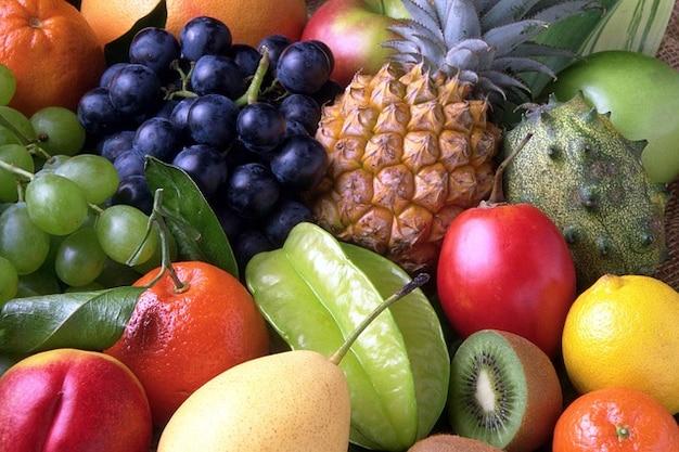 Sweet exotic pineapple fruit fruits