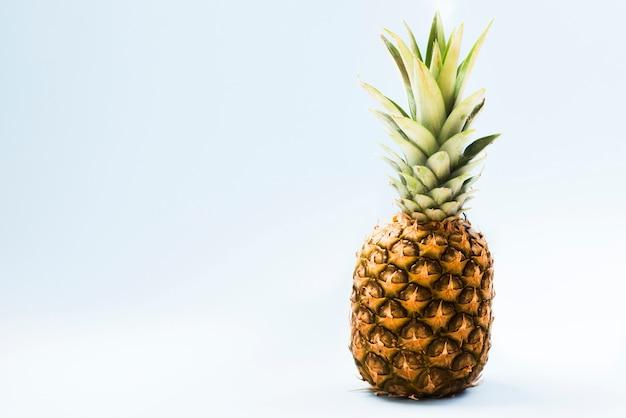 明るい背景に甘いエキゾチックなパイナップル