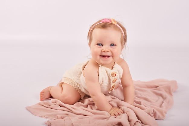 Sweet funny baby portrait