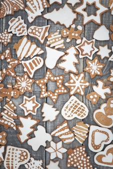 Sweet gingerbreads on the table