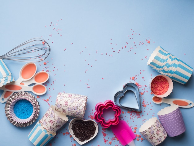 Sweet girlish style baking tools and accessories.