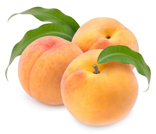 달콤한 황금 복숭아 과일 격리 격리