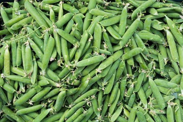 Sweet green peas aerial