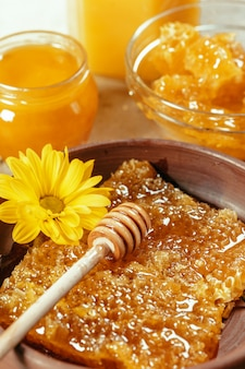 Sweet honey on the table