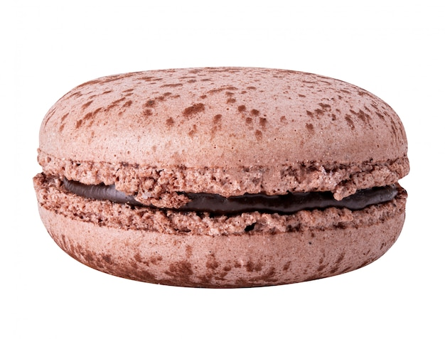 Sweet macaroon isolated  with clipping path