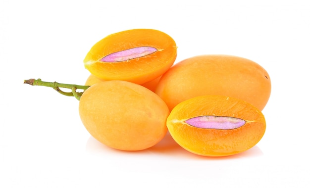 달콤한 마리안 매 태국 과일 절연