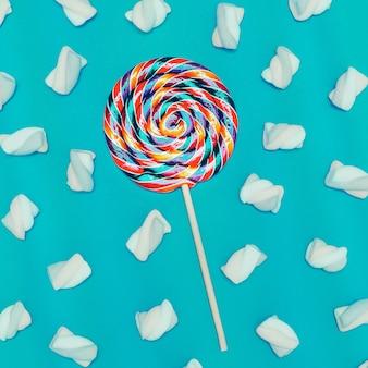 Sweet mix cocktail. sweet lollipop background