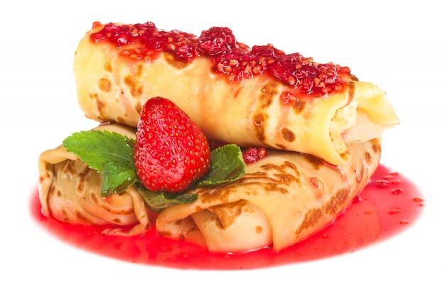 Sweet pancake rolls