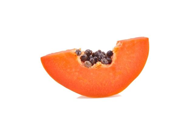 Sweet papaya on white background