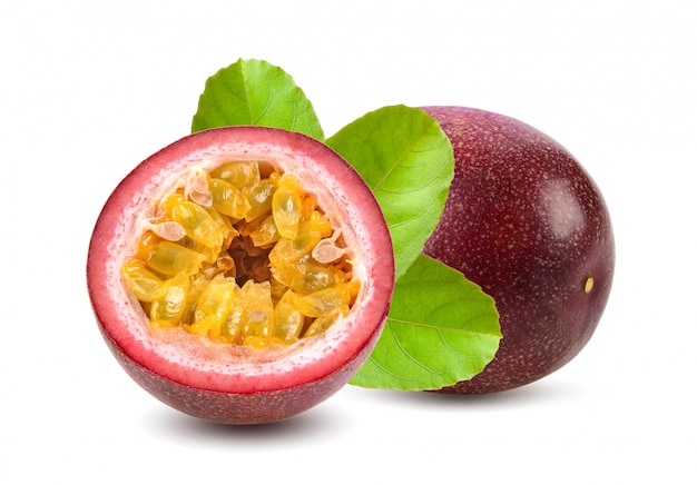 Sweet passionfruits isolated