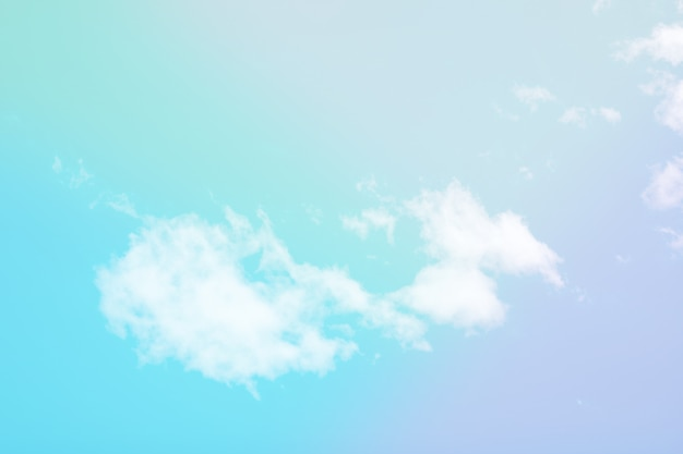 Sweet pastel colored cloud and sky