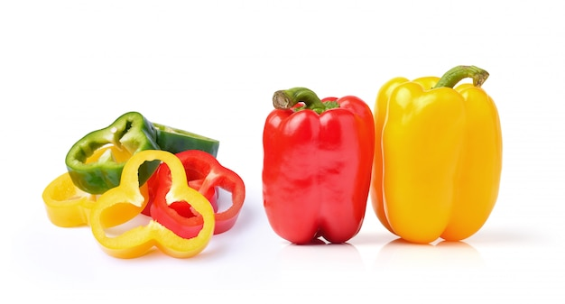Sweet pepper isolated on a white space