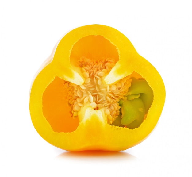Sweet pepper isolated on a white