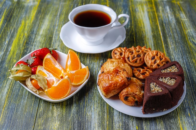 Sweet plate with various sweets.
