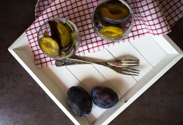 Sweet plum dessert