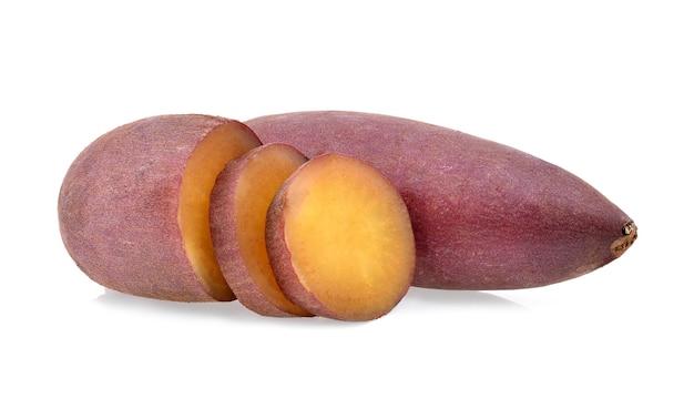 白で分離されたサツマイモ