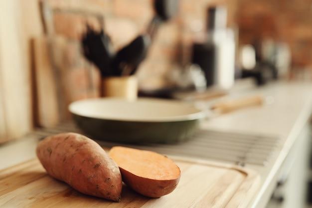 Sweet potato in the kitchen