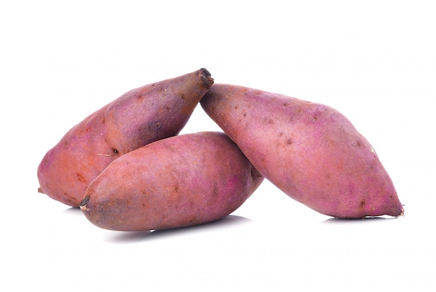 Sweet potato on the white space