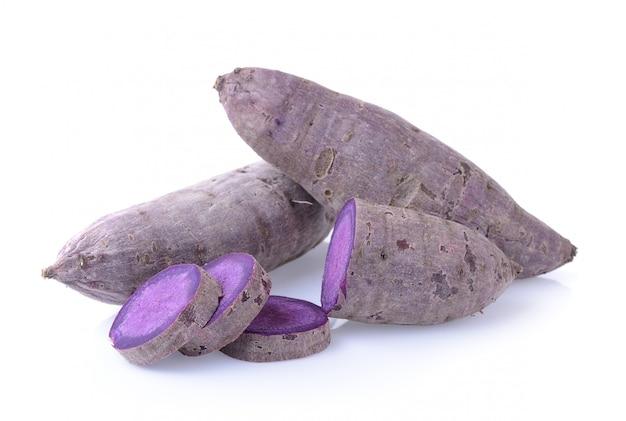 Sweet potato (yam) on white background