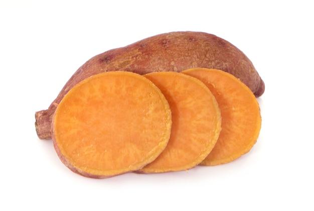 Sweet potatoes isolated