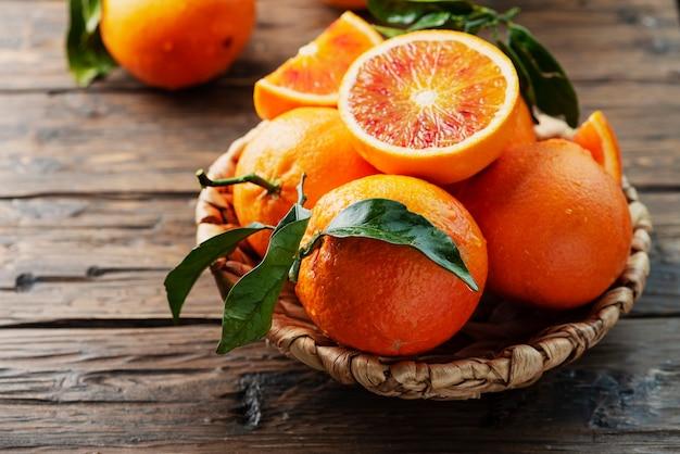 Sweet red oranges