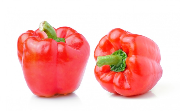 Sweet red pepper isolated on white space
