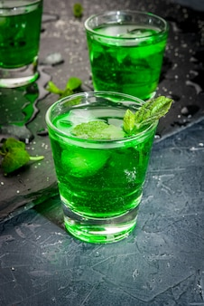 Sweet refreshing mint liqueur