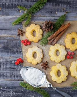 Sweet shortbread cookies