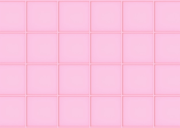 Sweet soft pink color tone square shape art pattern tiles wall background.