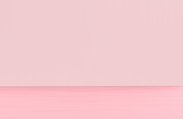 Sweet soft pink tone color wood panel floor and wall background.