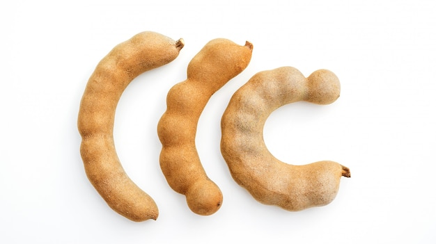Sweet tamarind on a white background.