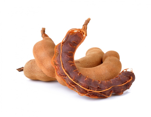 Sweet tamarind on a white