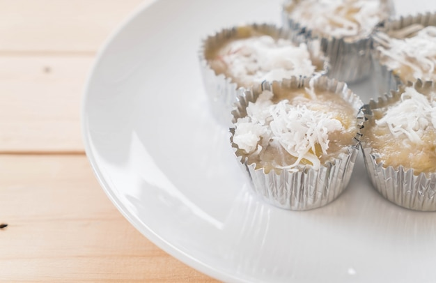 Sweet thai white snack muffin
