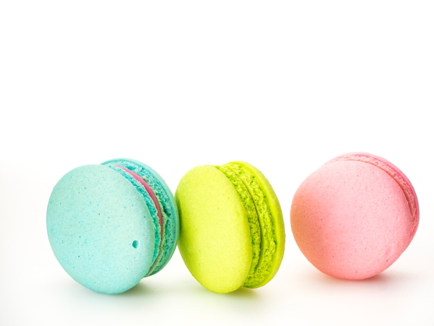 Sweet three macarons love on white