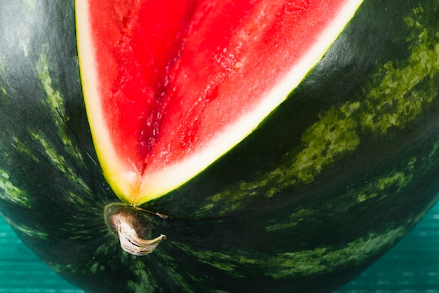 Sweet watermelon with red ripe core
