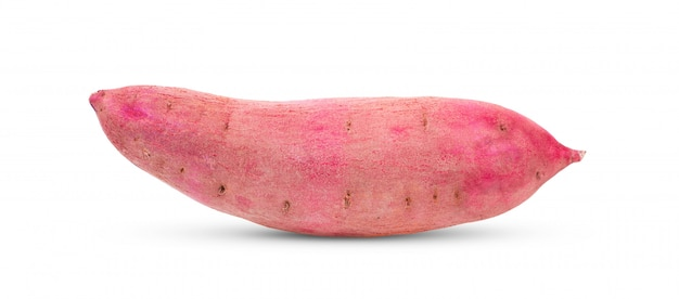 Sweet yam potato on white background