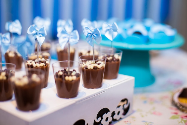 Sweets and cakes for children's parties and wedding