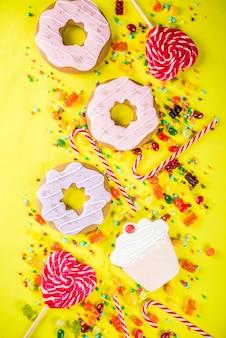 お菓子の創造的なレイアウト、デザートコンセプト