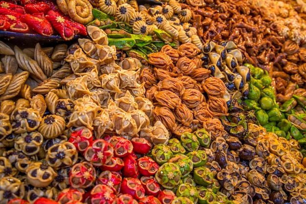 Sweets on the moroccan market