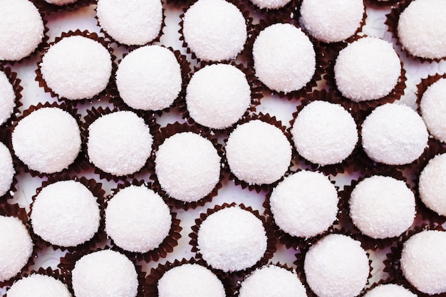 Sweets on table