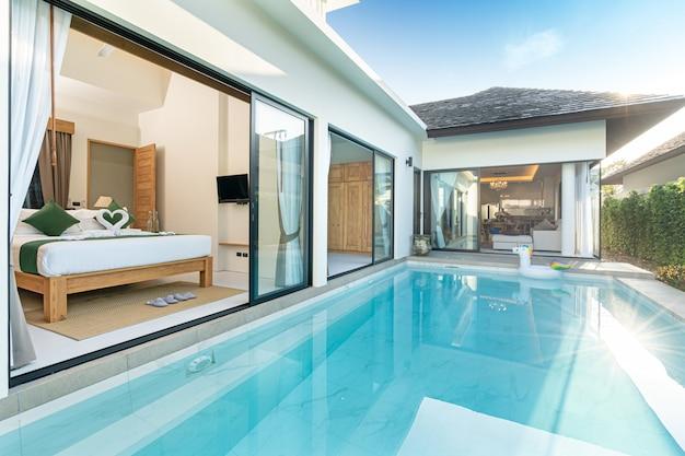 Swiming pool in luxury pool villa